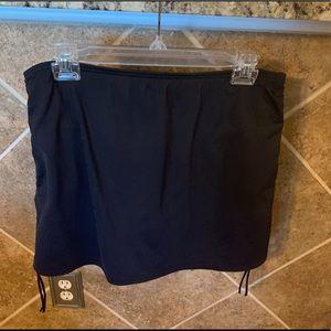 Lands' End Swimsuit Skort Black Size 12